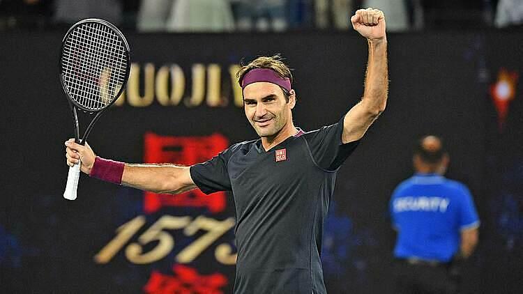 Chiến thắng thứ 100 tại Australia Mở rộngđến không dễ dàng với Federer. Ảnh: AP.