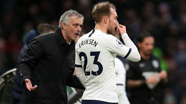 Eriksen thỉnh thoảng được Jose Mourinho sử dụng, nhưng không đạt được phong độ tốt nhất. Ảnh: Sky Sports.