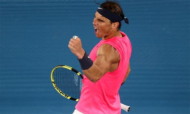 Nadal khẳng định vị thế ứng cử viên sau màn kịch chiến Kyrgios. Ảnh: Reuters.