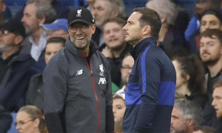 Liverpool của Klopp từng thắng Chelsea của Lampard 2-1 ởvòng sáu Ngoại hạng Anh mùa này. Ảnh: AP.