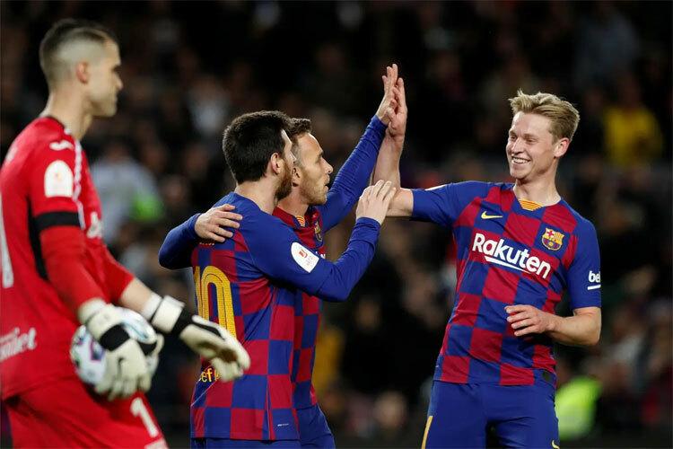Barca có chiến thắng đậm đầu tiên dưới triều đại HLV Setien.
