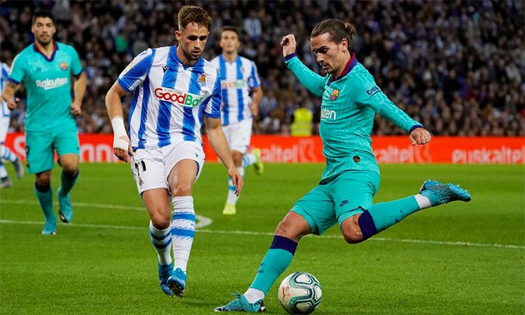 Griezmann sẽ gjúp Barca tiết kiệm được một khoản tiền lớn nếu lấp đầy khoảng trống mà Suarez bỏ lại ở vị trí trung phong. Ảnh: Reuters.