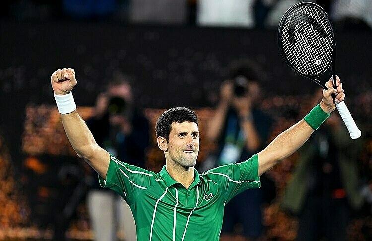 Djokovic toàn thắng trong tám lần vào chung kết Australia Mở rộng. Ảnh: EPA.