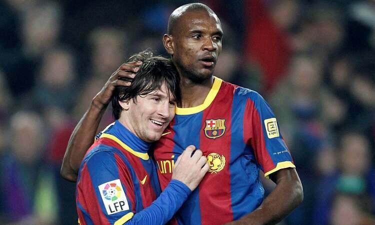 Messi từng là đồng đội với Abidal. Ảnh: Reuters.