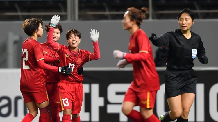 Việt Nam sớm giành vé play-off tranh suất dự Olympic sau trận thắng Myanmar 1-0 ngày 6/2. Ảnh: AFC.