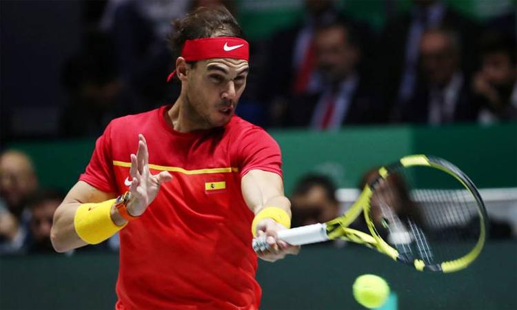 Trong mắt Djokovic, Nadal không có đối thủ ở những cú thuận tay. Ảnh: Reuters.