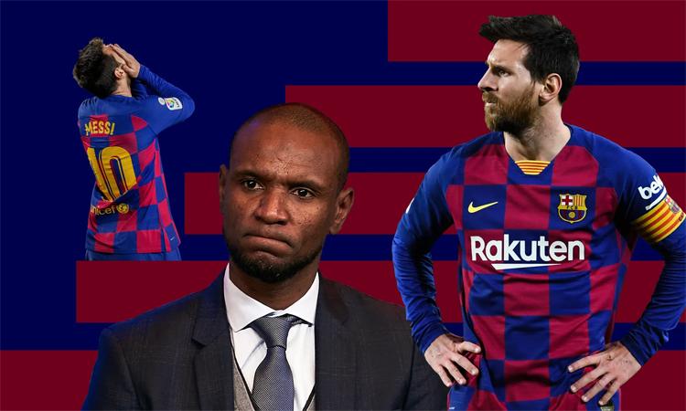 Mâu thuẫn Messi - Abidal đang phơi bày những vấn đề lớn ở Barca. Ảnh: Guardian.