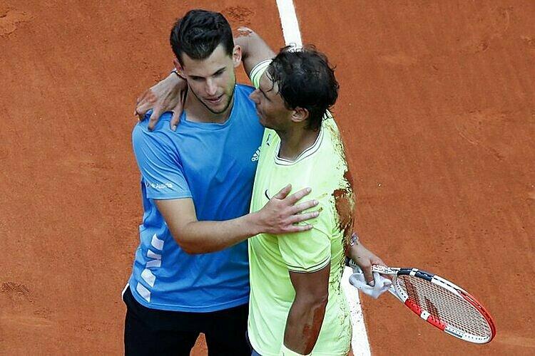 Thiem thua tâm phục khẩu phục Nadal ở hai trận chung cuộc Roland Garros gần nhất. Ảnh: AP.
