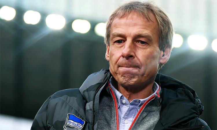 Klinsmann từ chức vì không nhận được sự tin tưởng cần thiết sau 10 trận dẫn dắt Hertha. Ảnh: EPA.