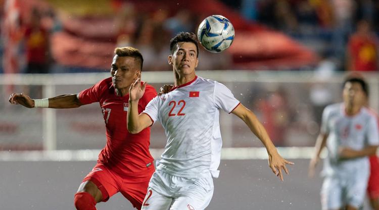 Tiến Linh có bàn thắng trong trận Việt Nam đánh bại Indonesia 3-1 tại Bali. Ảnh: FIFA