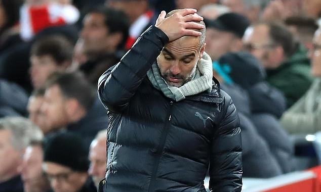 Sự nghiệpcủa Guardiola tại Man City được dự báo kết thúc. Ảnh: PA.