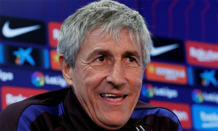 Setien tin tưởng vào Barca trong chặng đường còn lại. Ảnh: Reuters.