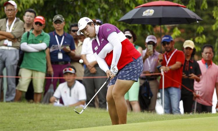 Feng đứng thứ 23 vàlà golfer Trung Quốc có thứ hạng cao nhất trên Rolex Ranking. Ảnh: AP.