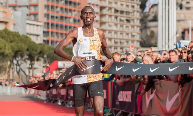 Cheptegei về nhất tại Monaco Run. Ảnh: Monaco Run.