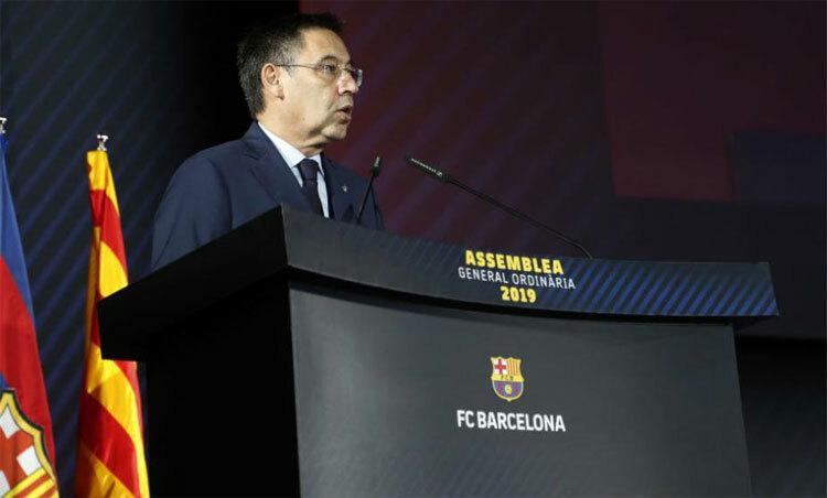 Chủ tịch đương nhiệm của Barca, Bartomeu. Ảnh: Marca.