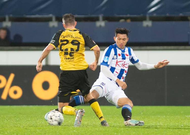Đoàn Văn Hậu vẫn đang chờ đợi cơ hội ra mắt ở giải vô địch quốc gia Hà Lan.