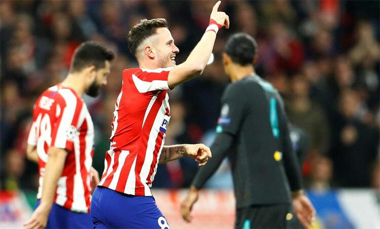 Saul Niguez mang lại chiến thắng 1-0 cho Atletico. Ảnh: Reuters.