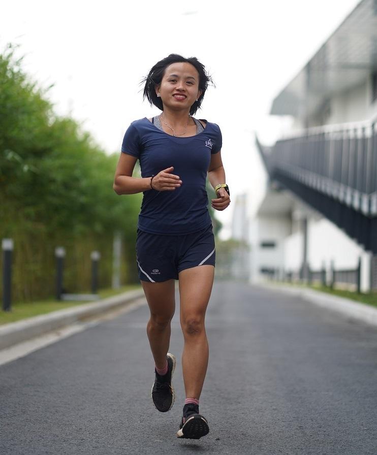 Nữ runner Nguyễn Thị Đường thường xuyên đạt thành tích cao trong các cuộc thi.