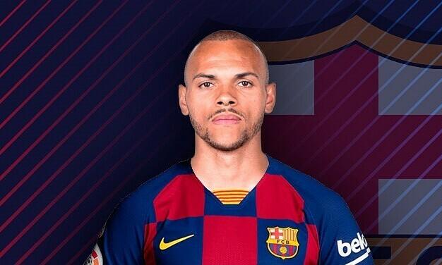 Braithwaite được chiêu mộ đểthế chỗ Luis Suarez. Ảnh: Marca.