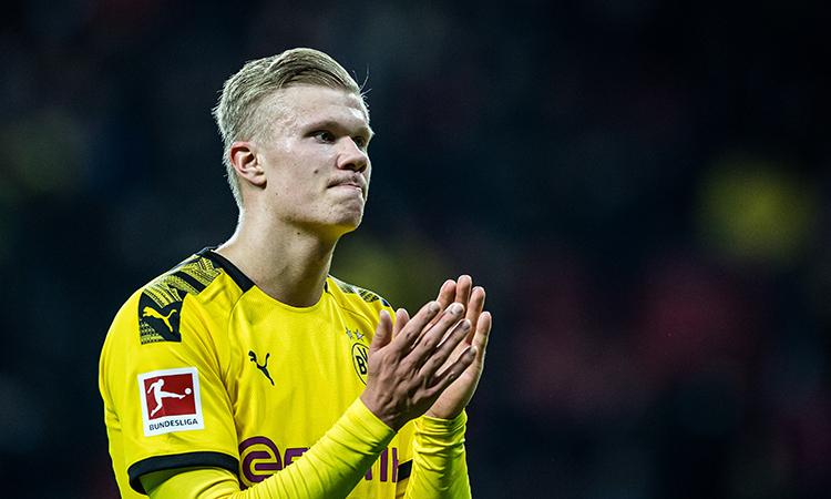 Haaland hiện được định giá 60 triệu euro, caocấp ba mức 20 triệu mà Dortmund chi ra để tậu anh về hồi tháng Một. Ảnh: DFL.