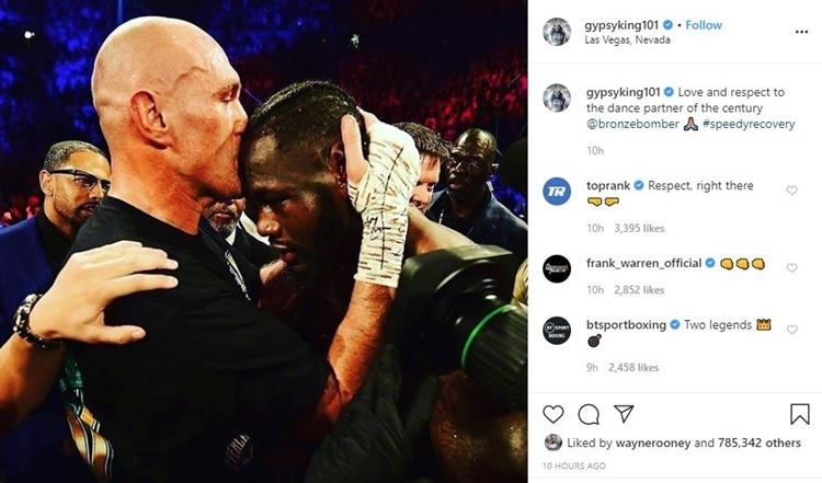 Bức ảnh trên Instagram của Tyson Fury.