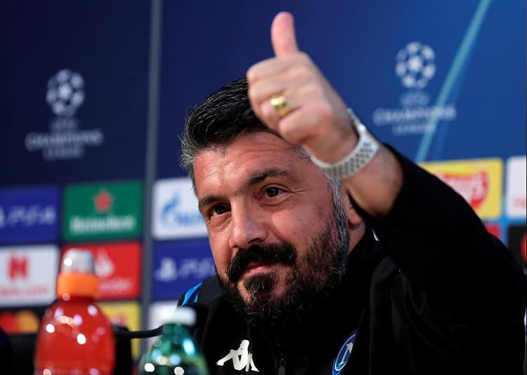 Gattuso đưa Napoli vào phom. Ảnh: Reuters.