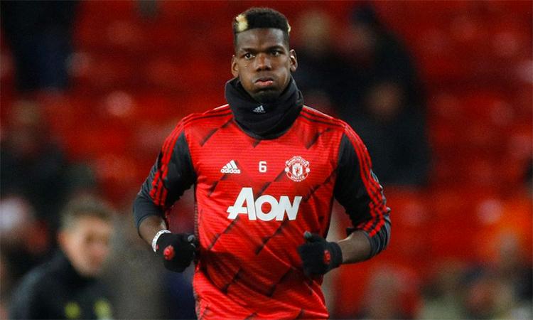 Pogba mới đá tám trận cho Man Utd trên mọi đấu trường mùa này. Ảnh: Reuters.
