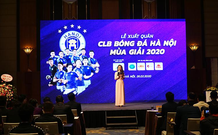 Lễ xuất quân của CLB bóng đá Hà Nội chiều 26/2.