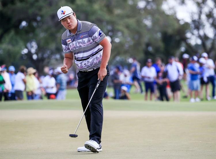 Im đạt điểm -6 đủ để đăng quang tại Honda Classic, qua đó giải cơn khát danh hiệu sau 50 giải PGA Tour mà anh góp mặt. Ảnh: EPA.
