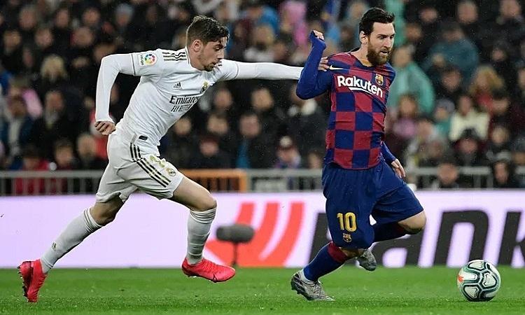 Messi không để lại nhiều ấn tượng trong khi Valverde tỏa sáng ở giữa sân. Ảnh: AFP.