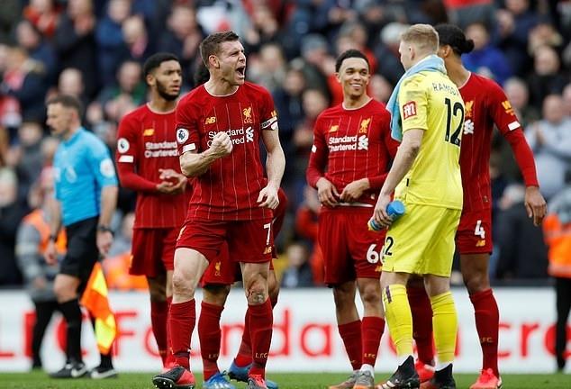 Liverpool còn cách chức vô địch đúng hai trận. Ảnh: Reuters.