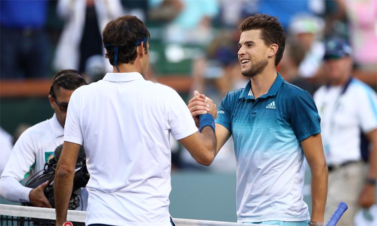 Dominic Thiem là nhà vô địch Indian Wells 2019, nơi anh thắng Federer trong trận chung kết hôm 17/3/2019. Ảnh: AP.