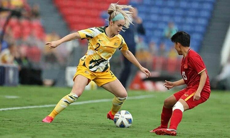 Australia đá trên chân và thắng 5-0 trong trận lượt đi trên sân nhà ngày 6/3. Ảnh: AFC