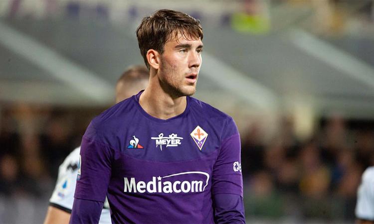 Vlahovic đá chính trong trận hoà Udinese 0-0 hôm 8/3. Ảnh: ANSA.
