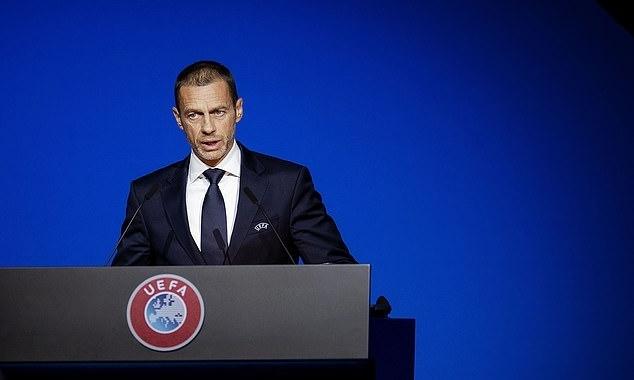 Chủ tịch UEFA Aleksander Ceferin tham dự buổi họp từ chiều 17/3. Ảnh: AFP.