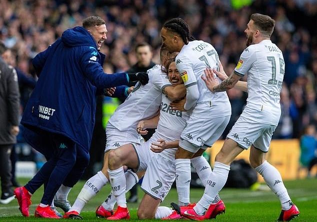 Leeds Utd, đội đang dẫn đầu giải hạng Nhất, sáng lên hy vọng trở lại giải đấu số một nước Anh. Ảnh: Camera Sport.