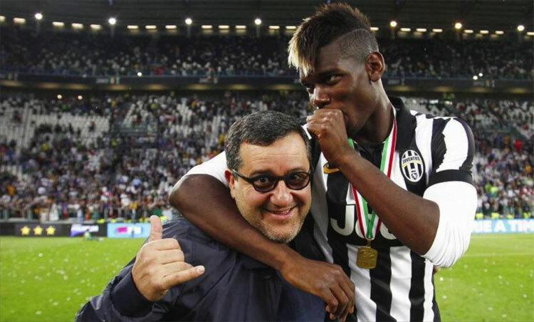 Pogba gắn bó với Raiola từ khi còn là một cầu thủ trẻ. Ảnh: Reuters.