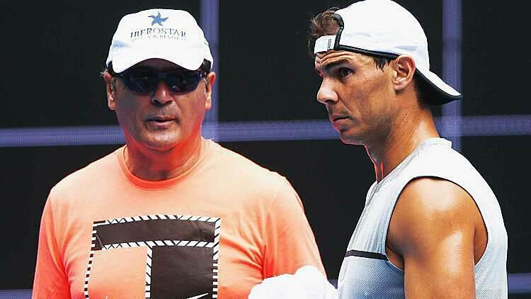 Ông Toni Nadal (trái) từng dẫn dắt Nadal giai đoạn 1990-2017. Ảnh: AP.