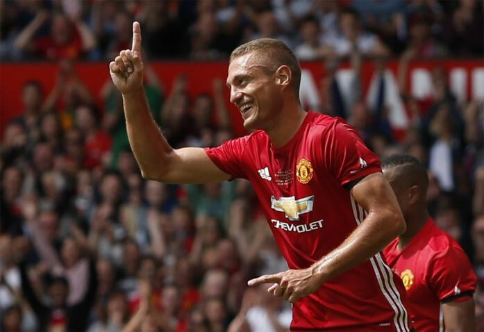 Vidic là hòn đá tảng một thời của Man Utd. Ảnh: Reuters.