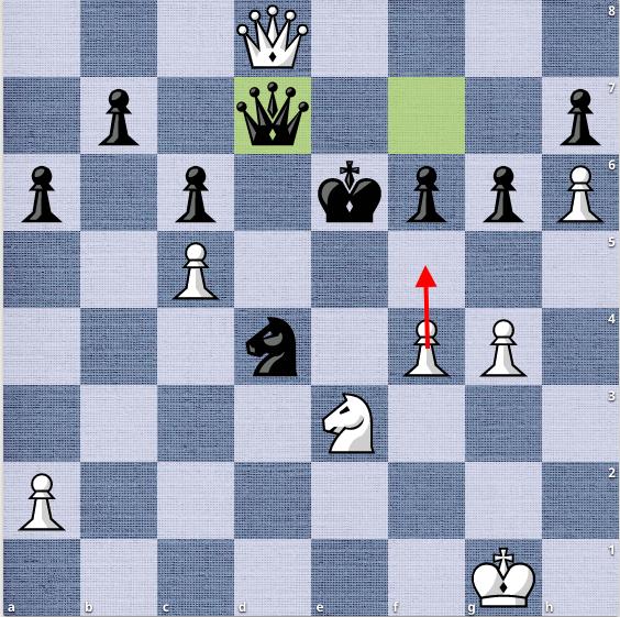 39.f5, và Đen không thể tránh khỏi mất mã, hoặc mất hậu. Vương xin thua sau đó vài nước cờ.