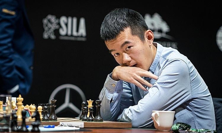 Đinh Lập Nhân - hạt giống số hai - coi như hết cửa về nhất Candidates. Ảnh: FIDE.