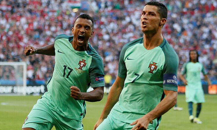 Ronaldo và Nani từng sát cánh cùng nhau tại Man Utd và tuyển Bồ Đào Nha. Ảnh: Reuters.