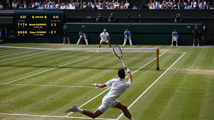 Wimbledon có thể trở thành Grand Slam đầu tiên bị hủy trong 75 năm qua. Ảnh: AFP.