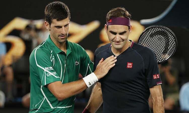 Djokovic đánh bại Federer trên đường giành chức vô địch Australia Mở rộng 2020. Ảnh: Reuters.