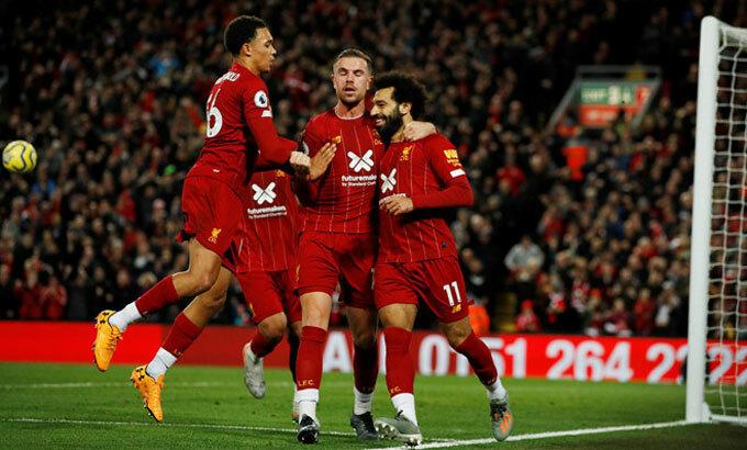 Liverpool chỉ còn cách chức vô địch đúng hai trận thắng. Ảnh: Reuters.