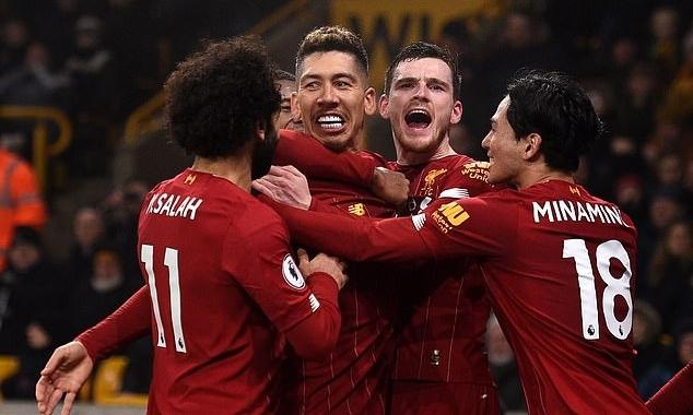 Liverpool chỉ còn cách chức vô địch Ngoại hạng Anh mùa này hai trận thắng. Ảnh: AFP.