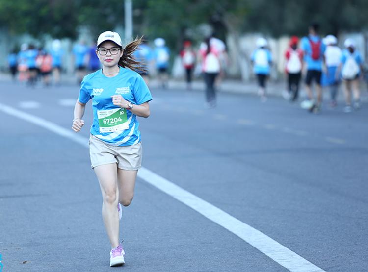 Vận động viên chạy tại giải VnExpress Marathon Quy Nhơn tháng 6/2019.