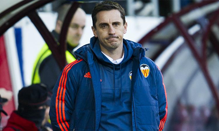Neville tự nhận sai lầm khi nhận thách thức ở Valencia mà không có sự chuẩn bị thấu đáo. Ảnh: EFE.