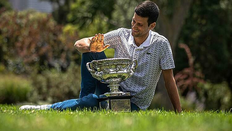 Djokovic có thể là nhà vô địch Grand Slam duy nhất trong năm nay. Ảnh: EFE.