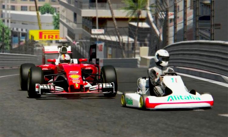 Xe đua F1 và xe kart.